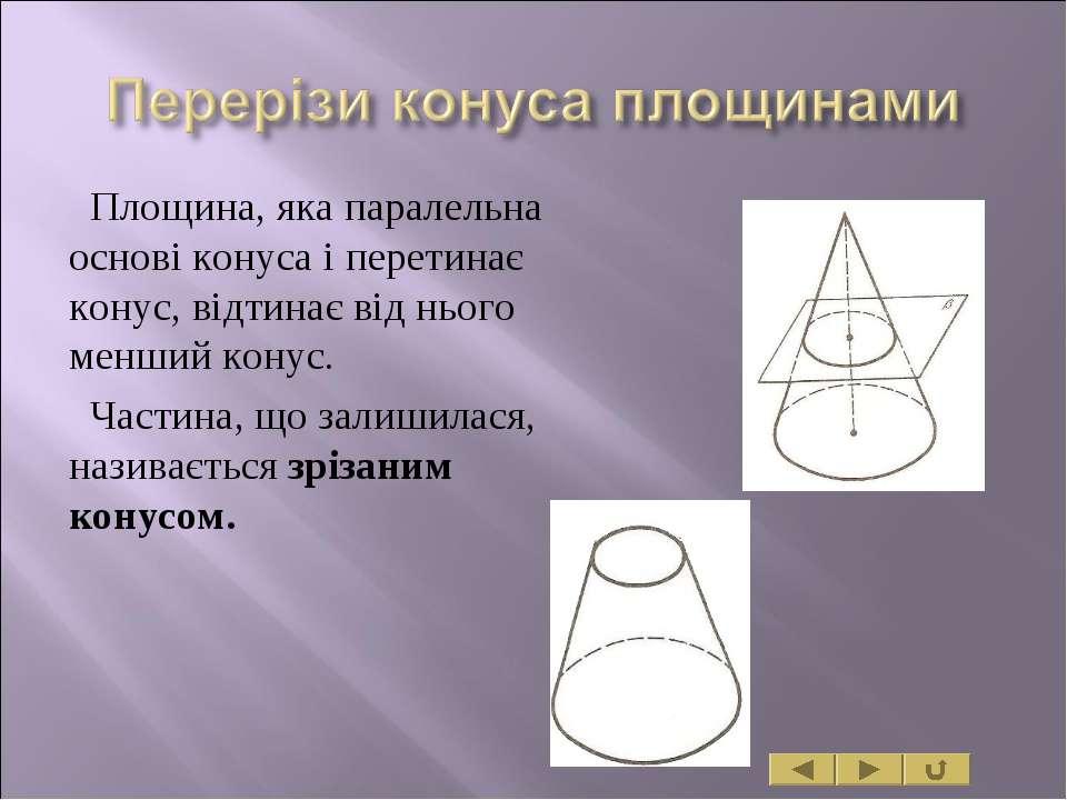 Площина, яка паралельна основі конуса і перетинає конус, відтинає від нього м...