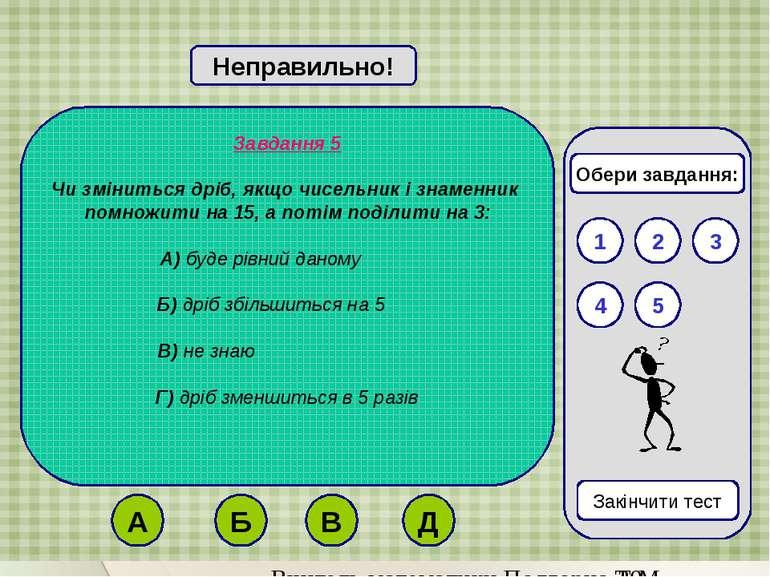 Завдання 5 Чи зміниться дріб, якщо чисельник і знаменник помножити на 15, а п...