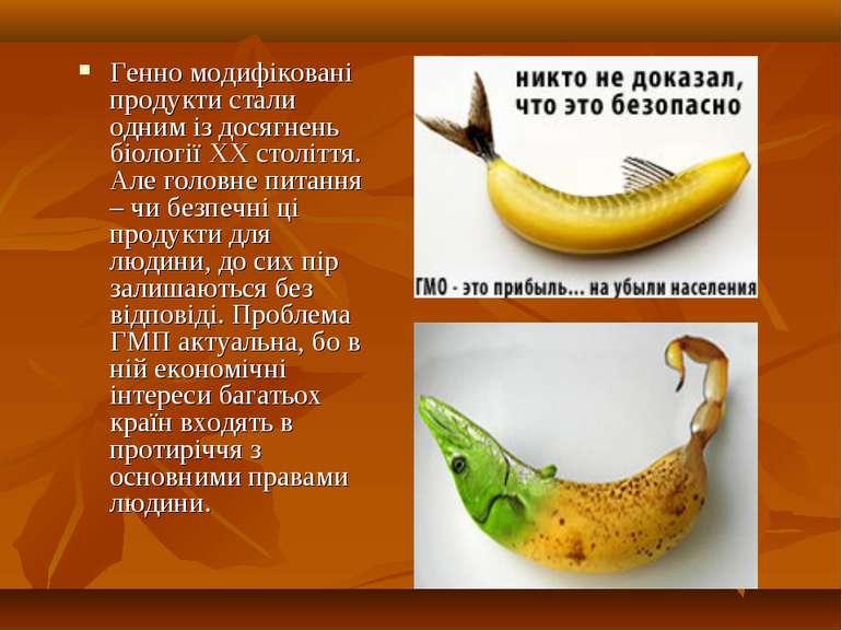 Генно модифіковані продукти стали одним із досягнень біології ХХ століття. Ал...