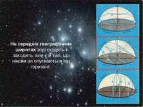 На середніх географічних широтах зорі сходять і заходять, але є й такі, що ні...