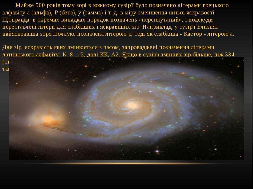 Майже 500 років тому зорі в кожному сузір'ї було позначено літерами грецького...