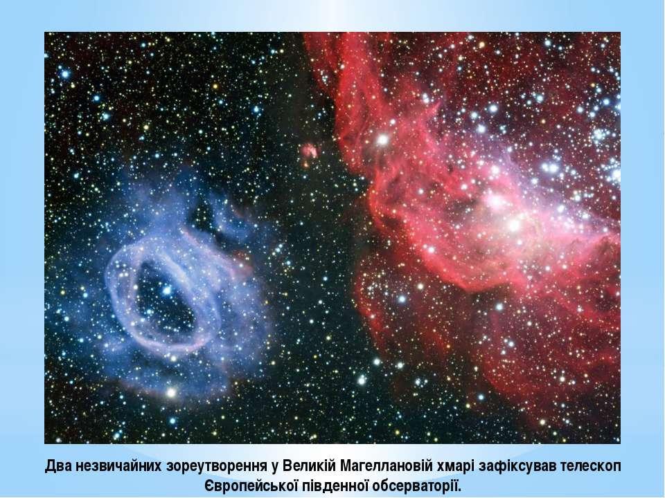 Два незвичайних зореутворення у Великій Магеллановій хмарі зафіксував телеско...