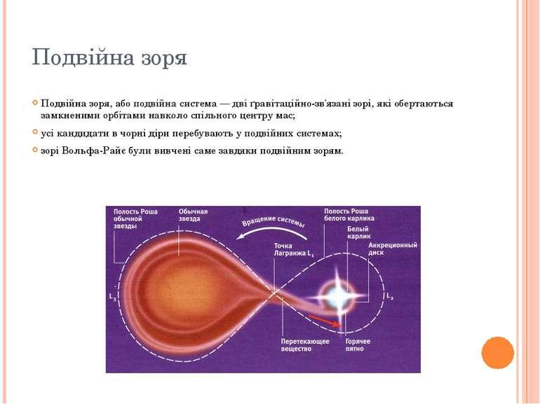 Подвійна зоря Подвійна зоря, або подвійна система — дві ґравітаційно-зв'язані...