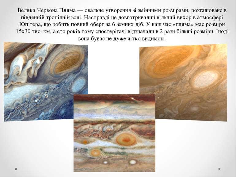 Велика Червона Пляма — овальне утворення зі змінними розмірами, розташоване в...