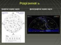 Розрізняють графічні зоряні карти фотографічні зоряні карти