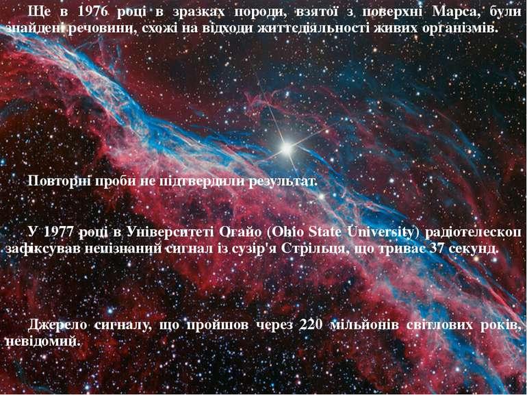 Ще в 1976 році в зразках породи, взятої з поверхні Марса, були знайдені речов...