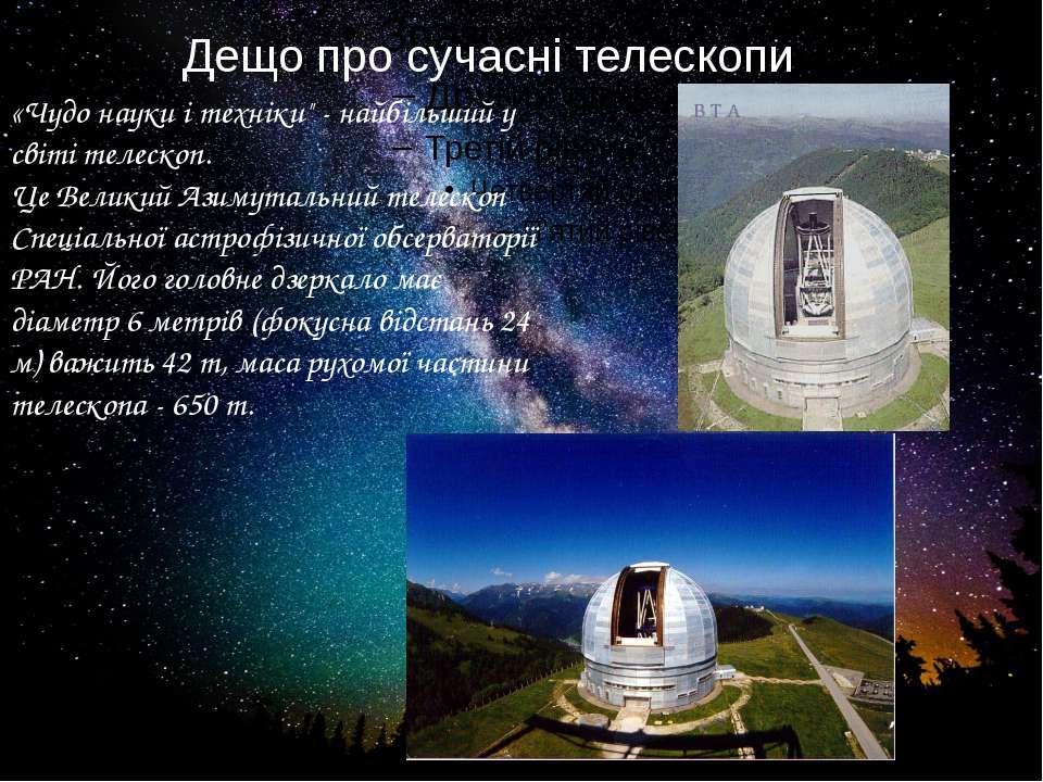 """Дещо про сучасні телескопи... «Чудо науки і техніки"""" - найбільший у світі тел..."""