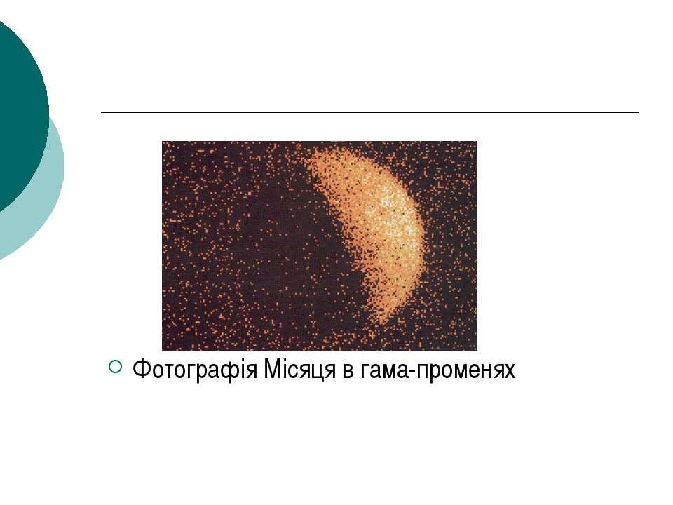 Фотографія Місяця в гама-променях