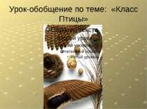 """Урок-обобщение по теме: «Класс Птицы» Презентация темы """"Птицы"""" подготовлена З..."""