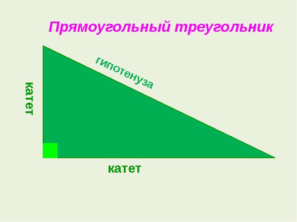 Прямоугольный треугольник гипотенуза катет катет