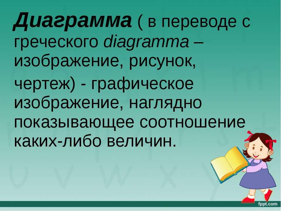 Диаграмма ( в переводе с греческого diagramma – изображение, рисунок, чертеж)...