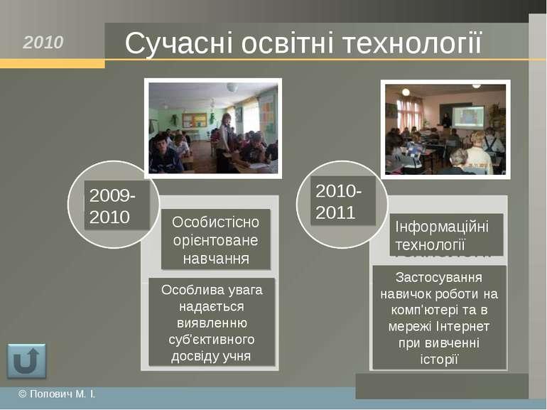 Сучасні освітні технології Особистісно орієнтоване навчання Інформаційні техн...