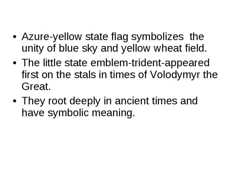 Azure-yellow state flag symbolizes the unity of blue sky and yellow wheat fie...