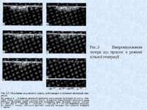 Рис.3 Випромінювання лазера що працює в режимі вільної генерації