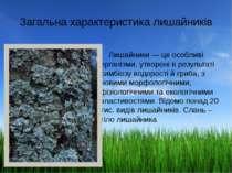 Загальна характеристика лишайників Лишайники — це особливі організми, утворен...