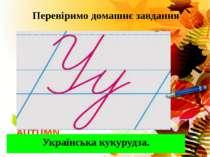 Перевіримо домашнє завдання Українська кукурудза.