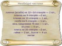 планка (штаба) на 12—14 отворів — 2 шт., планка на 9 отворів —2 шт., планка н...