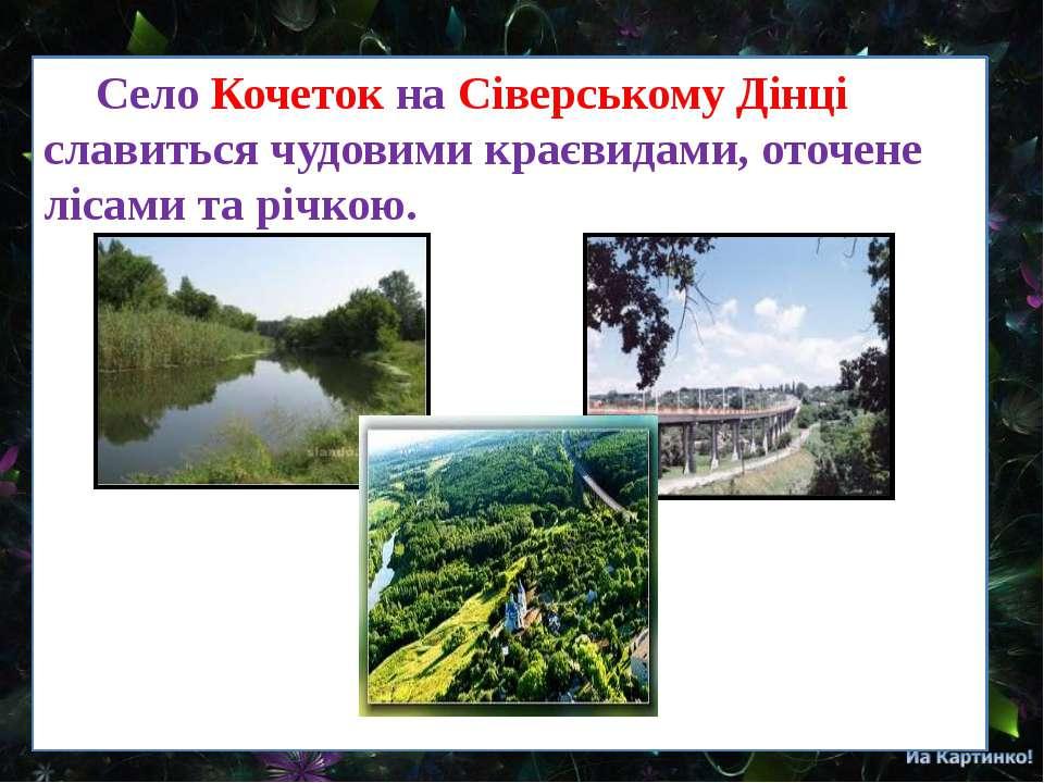Село Кочеток на Сіверському Дінці славиться чудовими краєвидами, оточене ліса...