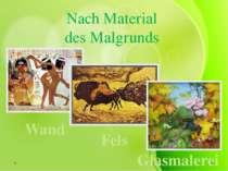 Nach Material des Malgrunds Wand Fels Glasmalerei
