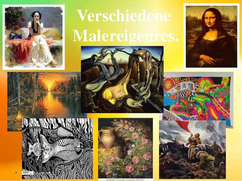 Verschiedene Malereigenres.