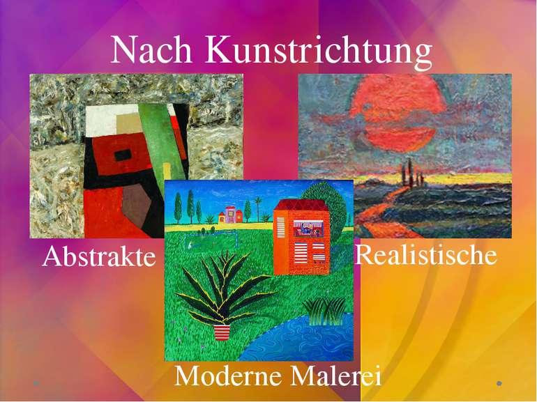 Nach Kunstrichtung Abstrakte Realistische Moderne Malerei