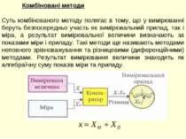 Комбіновані методи Суть комбінованого методу полягає в тому, що у вимірюванні...
