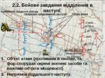 2.2. Бойове завдання відділення в наступі. Об'єкт атаки (противник в окопах, ...