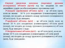 Ступені ураження наземних (морських) групових (площинних) об'єктів (цілей) пі...