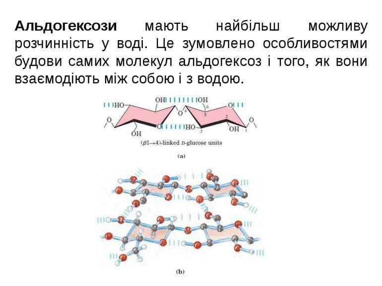 Альдогексози мають найбільш можливу розчинність у воді. Це зумовлено особливо...