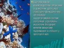 Екологія вивчає взаємовідносини організмів із довкіллям, досліджує структурно...