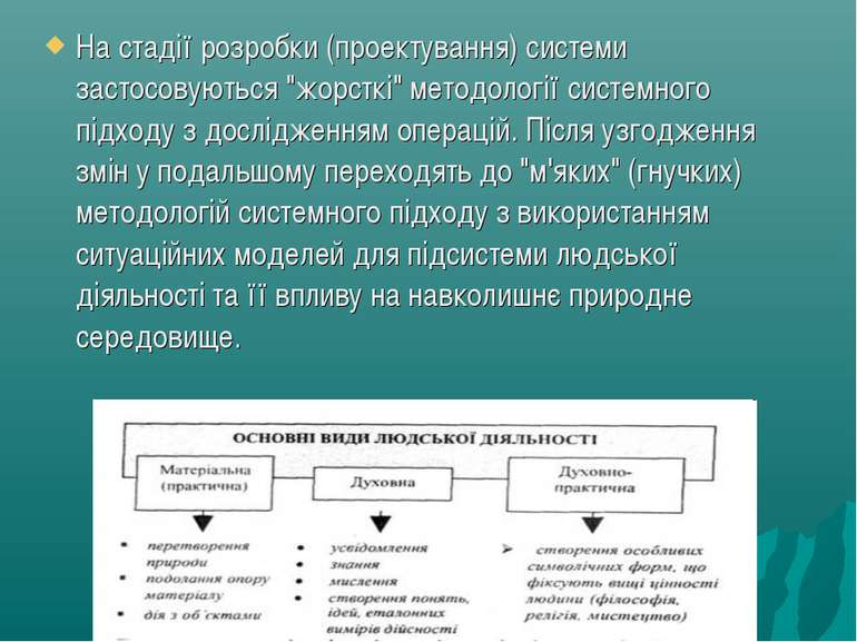 """На стадії розробки (проектування) системи застосовуються """"жорсткі"""" методологі..."""