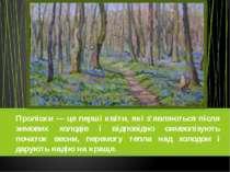 Проліски — це перші квіти, які з'являються після зимових холодів і відповідно...