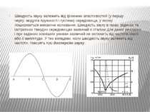 Швидкість звуку залежить відфізичних властивостей(у першу чергу:модулів пр...