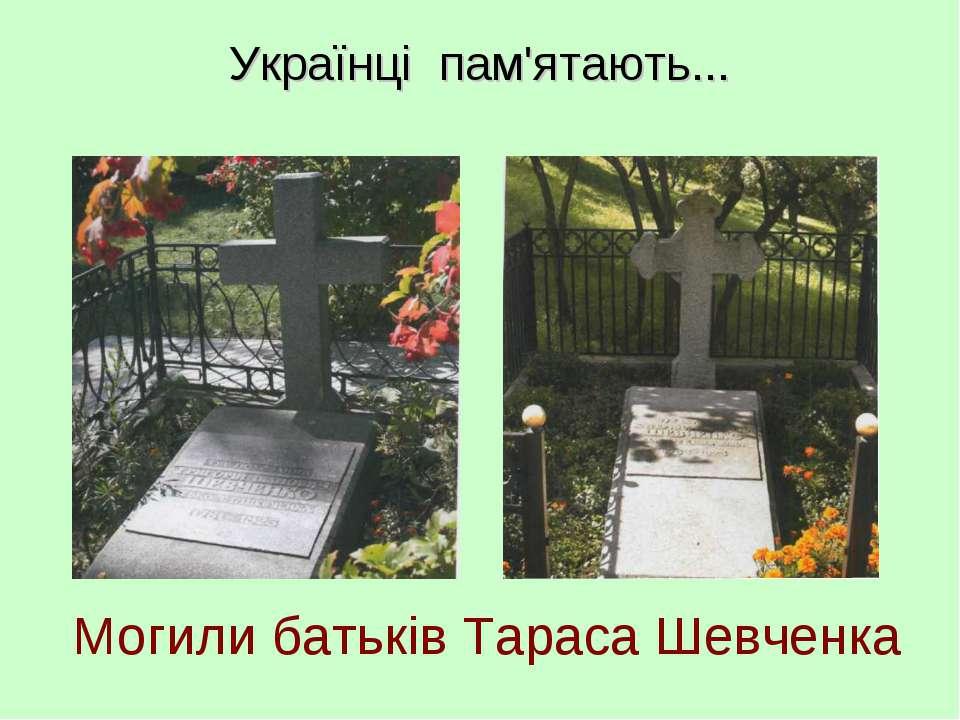 Могили батьків Тараса Шевченка