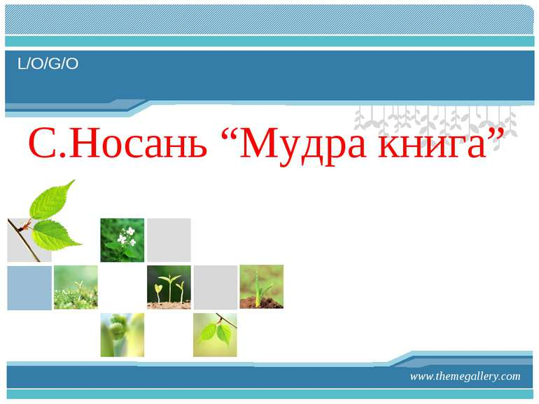 "www.themegallery.com С.Носань ""Мудра книга"" L/O/G/O"
