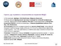 Гранти, що отримано з посиланням на існування МНДО  1) По програмі «Дніпро» ...