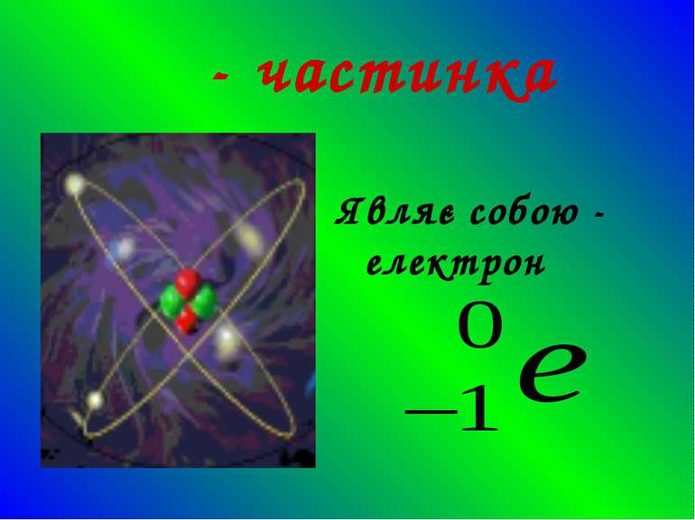 β - частинка Являє собою - електрон
