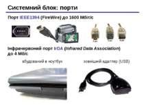 Системний блок: порти Порт IEEE1394 (FireWire) до 1600 Мбіт/c Інфрачервоний п...