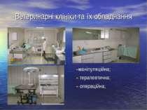 Ветеринарні клініки та їх обладнання