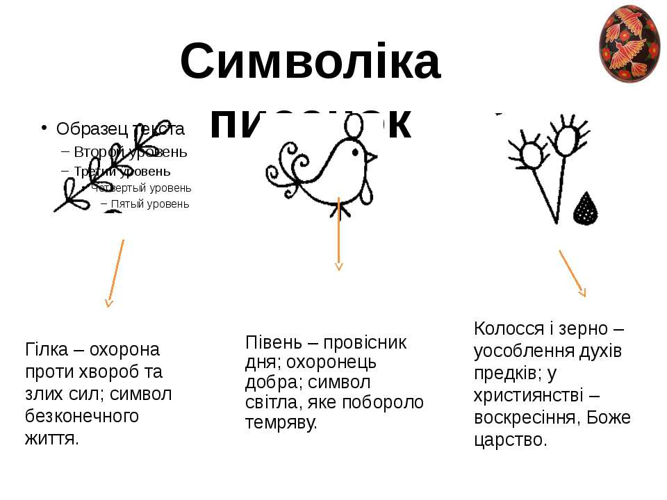 Символіка писанок Гілка – охорона проти хвороб та злих сил; символ безконечно...