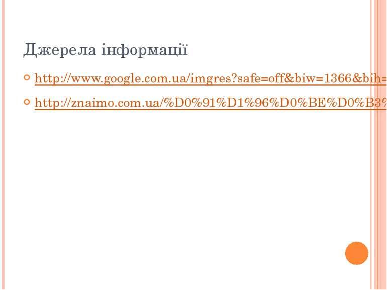 Джерела інформації http://www.google.com.ua/imgres?safe=off&biw=1366&bih=599&...