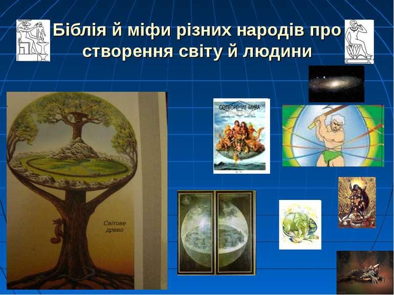 Біблія й міфи різних народів про створення світу й людини