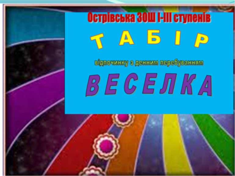 """Презентація табору """"ВЕСЕЛКА"""" Острівської ЗОШ"""