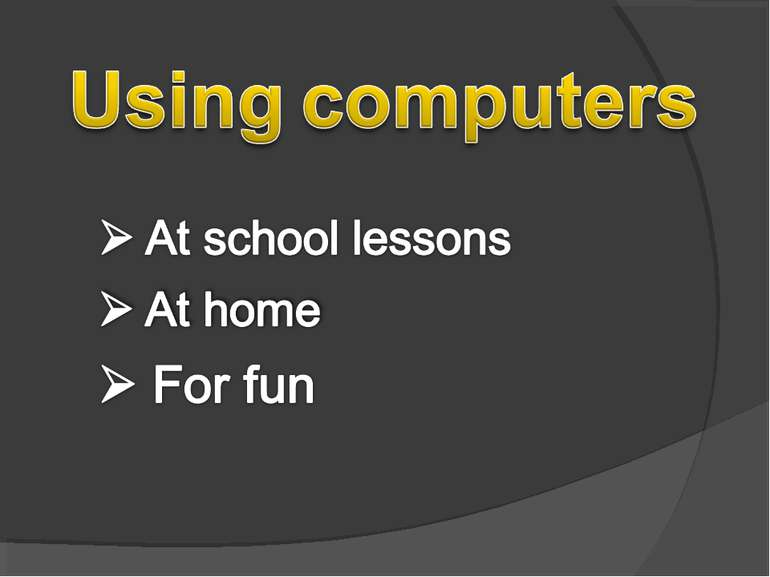 using computers