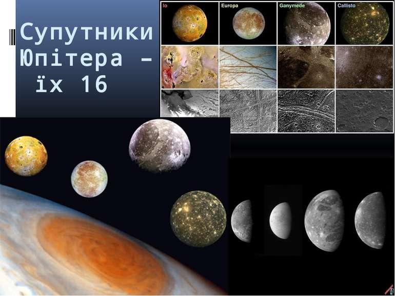 Супутники Юпітера – їх 16