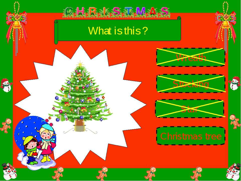 What is this ? Star Stocking Christmas tree Wreath