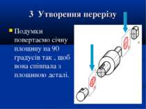 3 Утворення перерізу Подумки повертаємо січну площину на 90 градусів так , що...