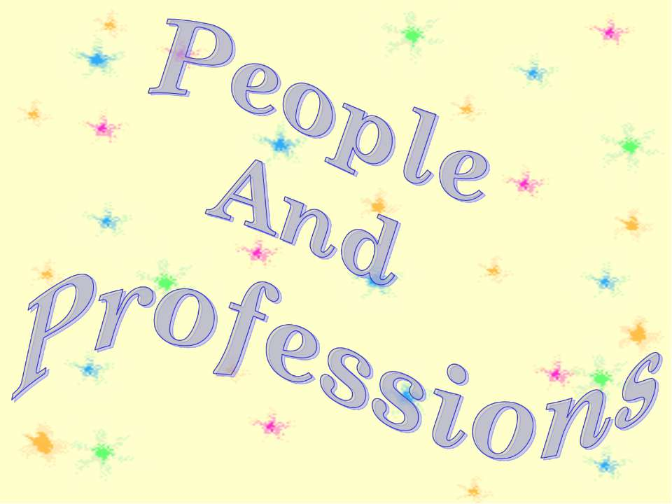 People And Professions