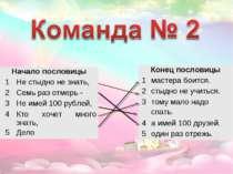 Начало пословицы 1 Не стыдно не знать, 2 Семь раз отмерь - 3 Не имей 100 рубл...