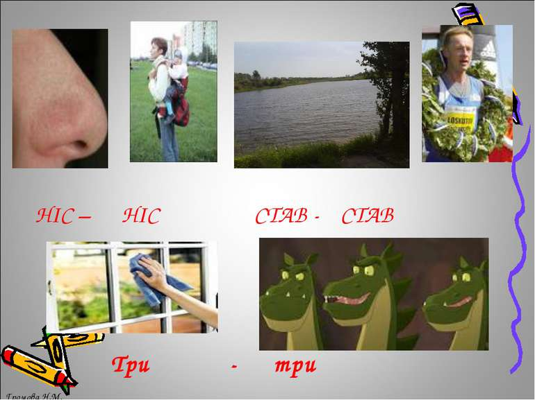 Три - три НІС – НІС СТАВ - СТАВ Громова Н.М. Громова Н.М.